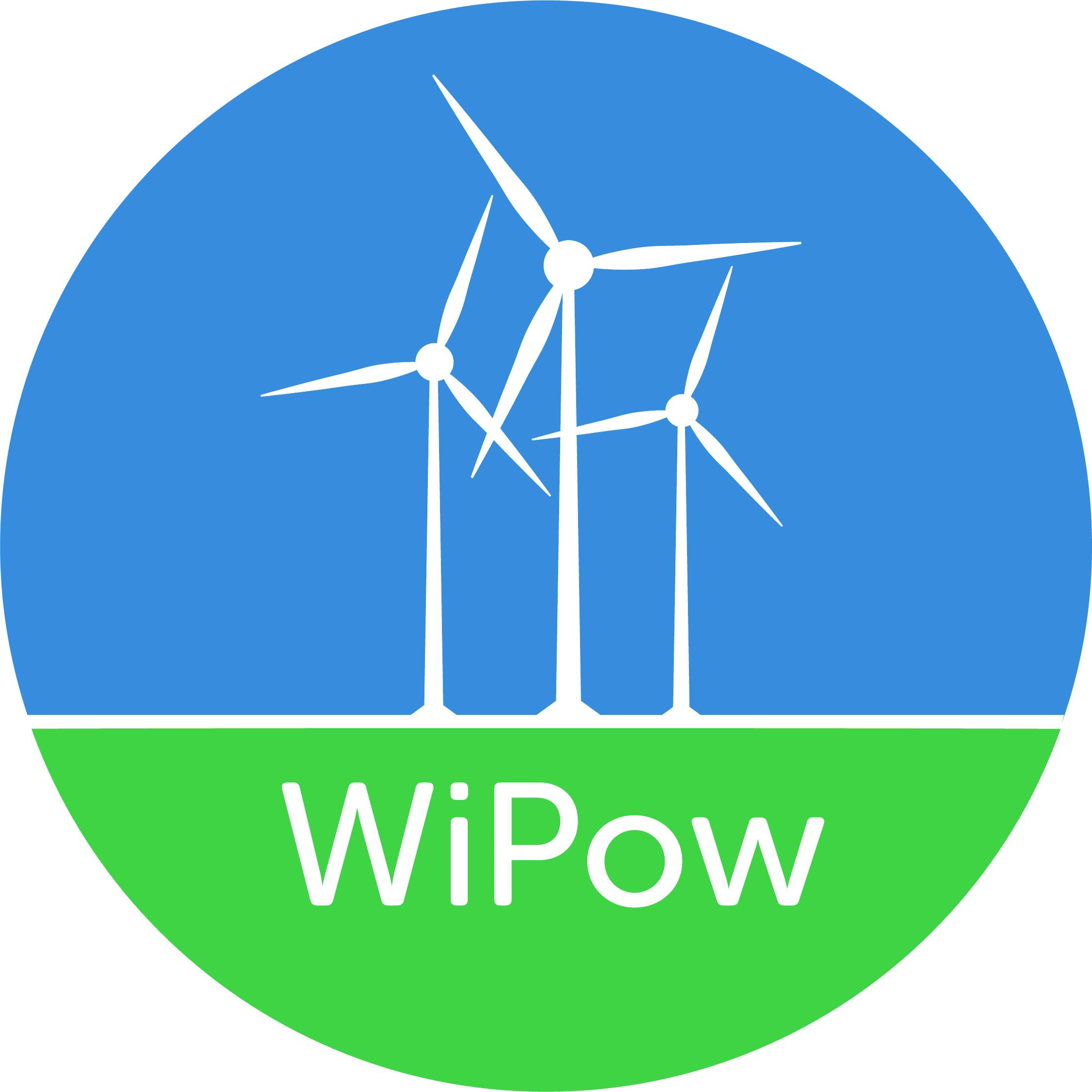 Logo WiPow med tekst og vindmøller