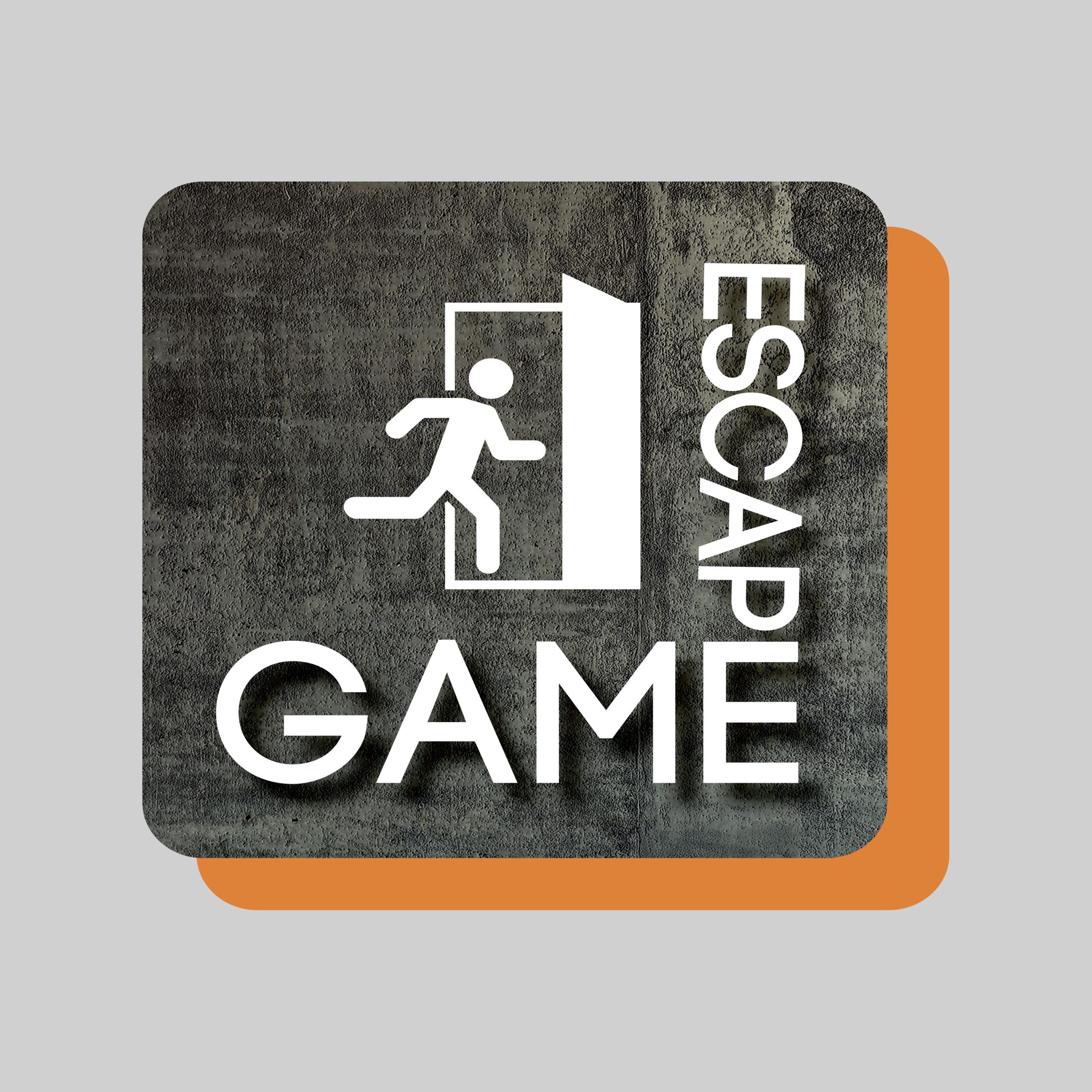 Escape Game logo med grå padding