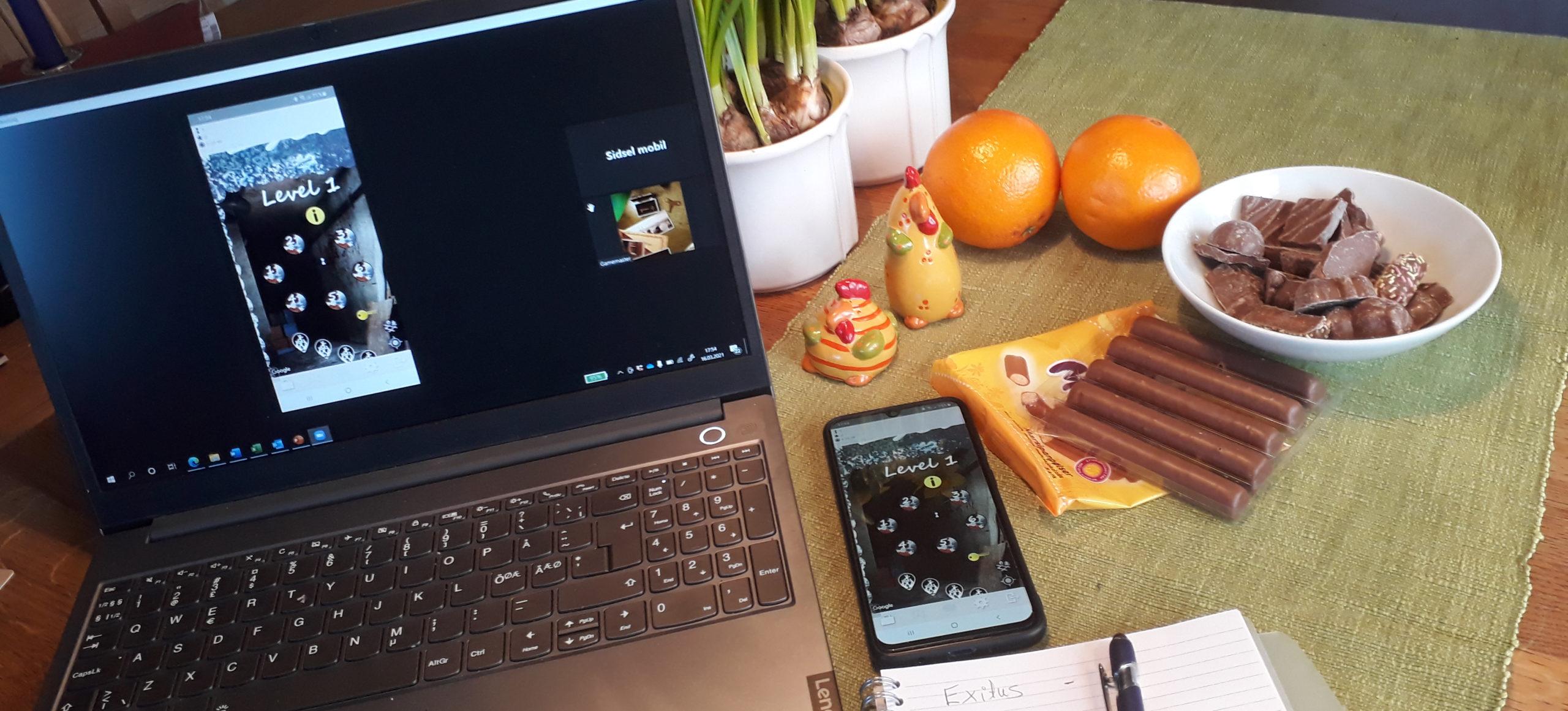 Digitalt EscapeGame Påskespesial. Pc, mobil, godteri og klemmentiner